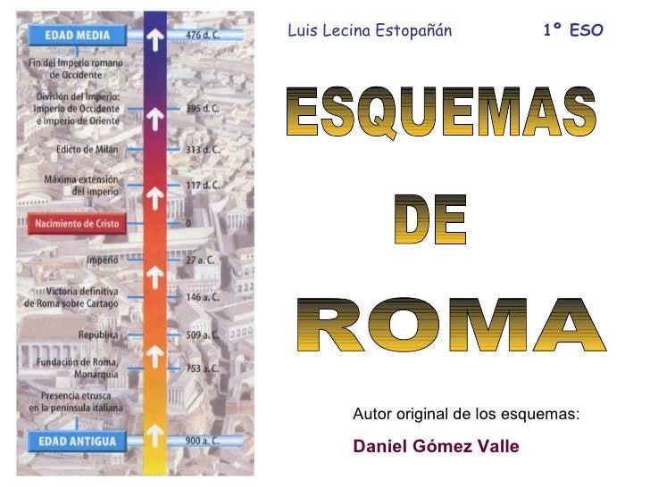 Luis Lecina Estopañán            1º ESO        Autor original de los esquemas:        Daniel Gómez Valle