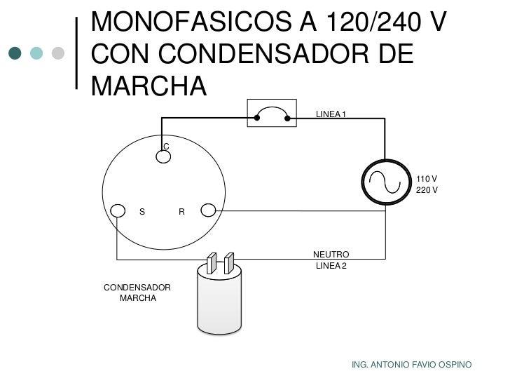 conexion motor monofasico 3 cables