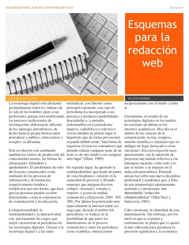 Esquemas redaccion web