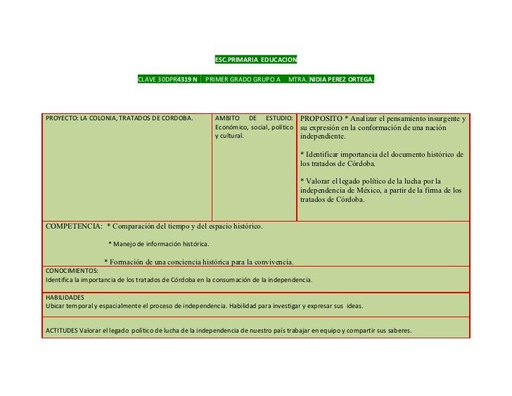 ESC.PRIMARIA EDUCACION                               CLAVE 30DPR4319 N      PRIMER GRADO GRUPO A        MTRA. NIDIA PEREZ ...