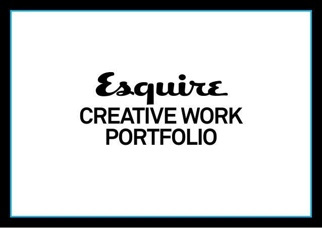 Esquire UK Creative Work Portfolio