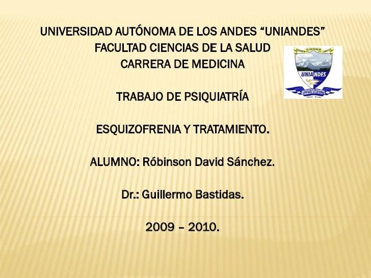 """UNIVERSIDAD AUTÓNOMA DE LOS ANDES """"UNIANDES""""         FACULTAD CIENCIAS DE LA SALUD             CARRERA DE MEDICINA        ..."""