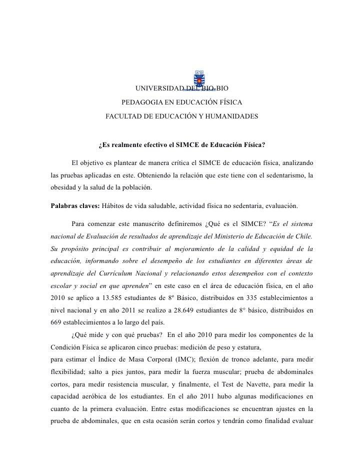 UNIVERSIDAD DEL BIO-BIO                         PEDAGOGIA EN EDUCACIÓN FÍSICA                   FACULTAD DE EDUCACIÓN Y HU...