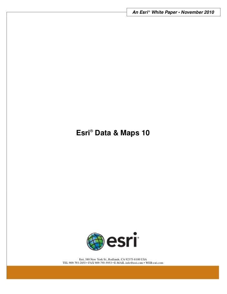 Esri data-and-maps