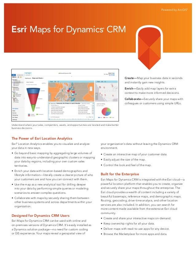 Esri Maps for Dynamics CRM