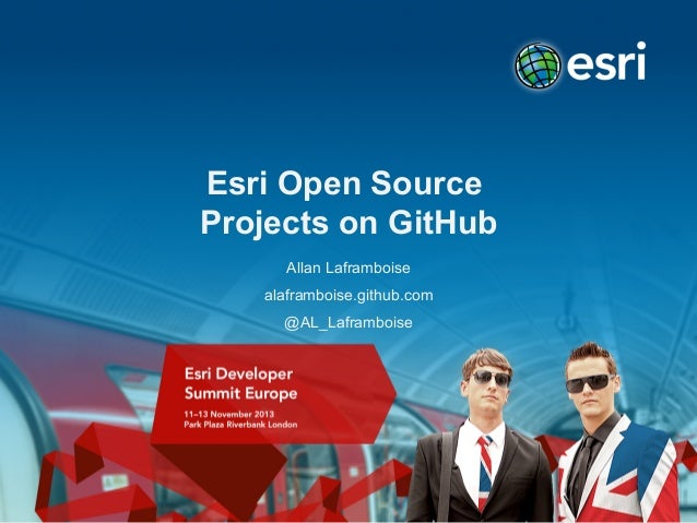 Esri open source projects on GitHub