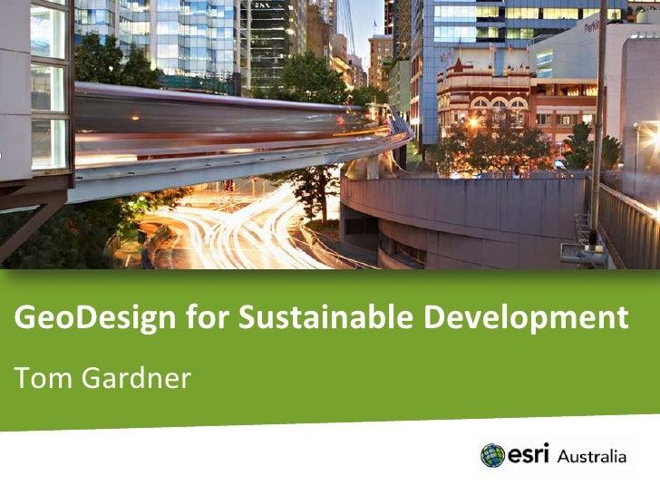 GeoDesign for Sustainable Development