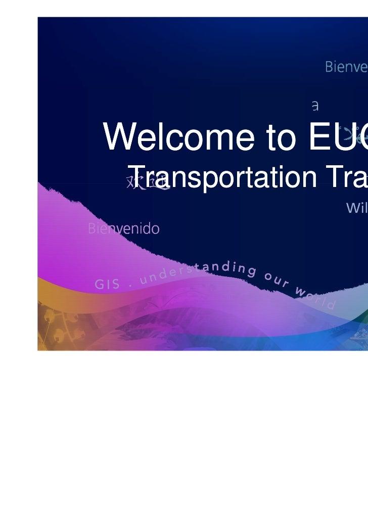 Esri GIS Trends for Transportation