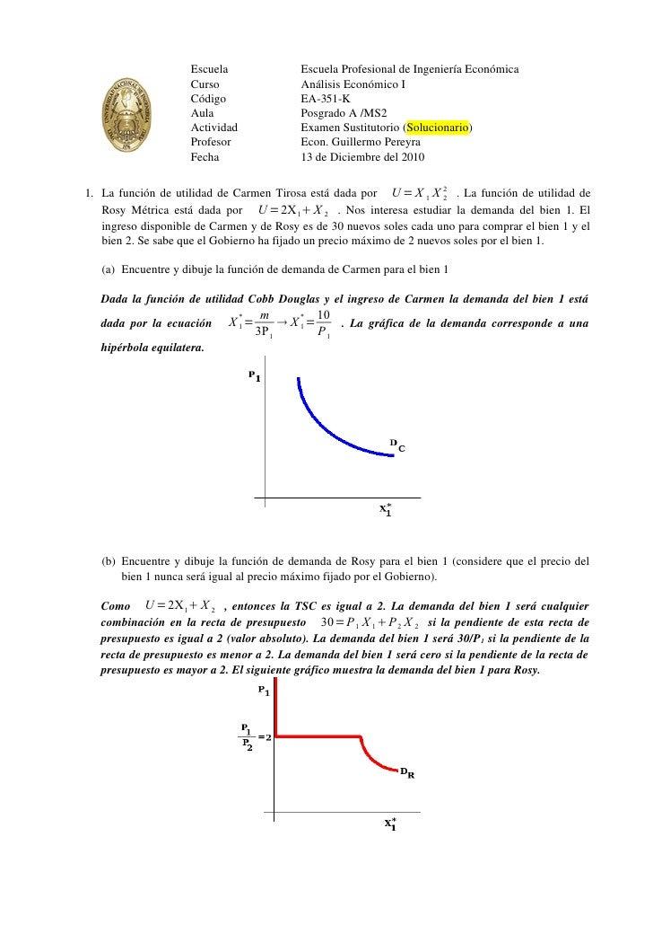 Escuela                Escuela Profesional de Ingeniería Económica                     Curso                  Análisis Eco...