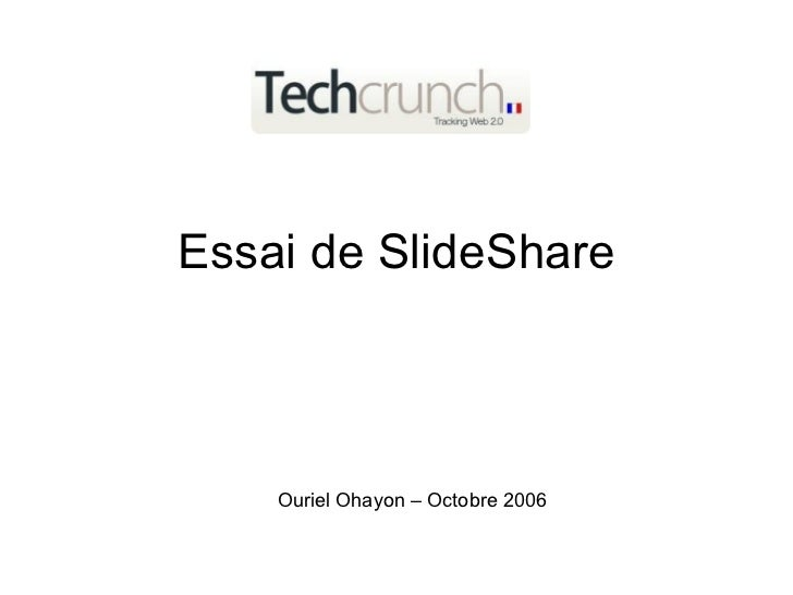 Essai de SlideShare pour TechCrunch France