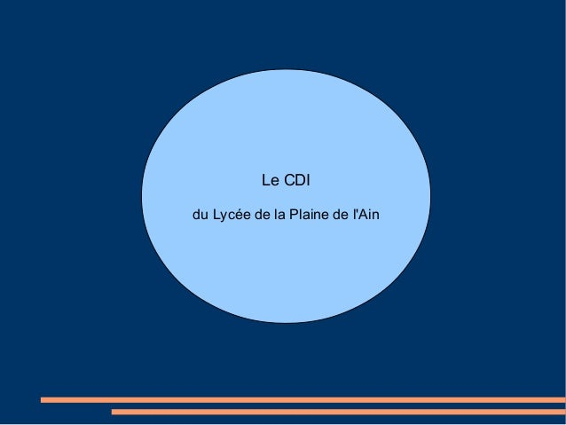 Le CDIdu Lycée de la Plaine de lAin