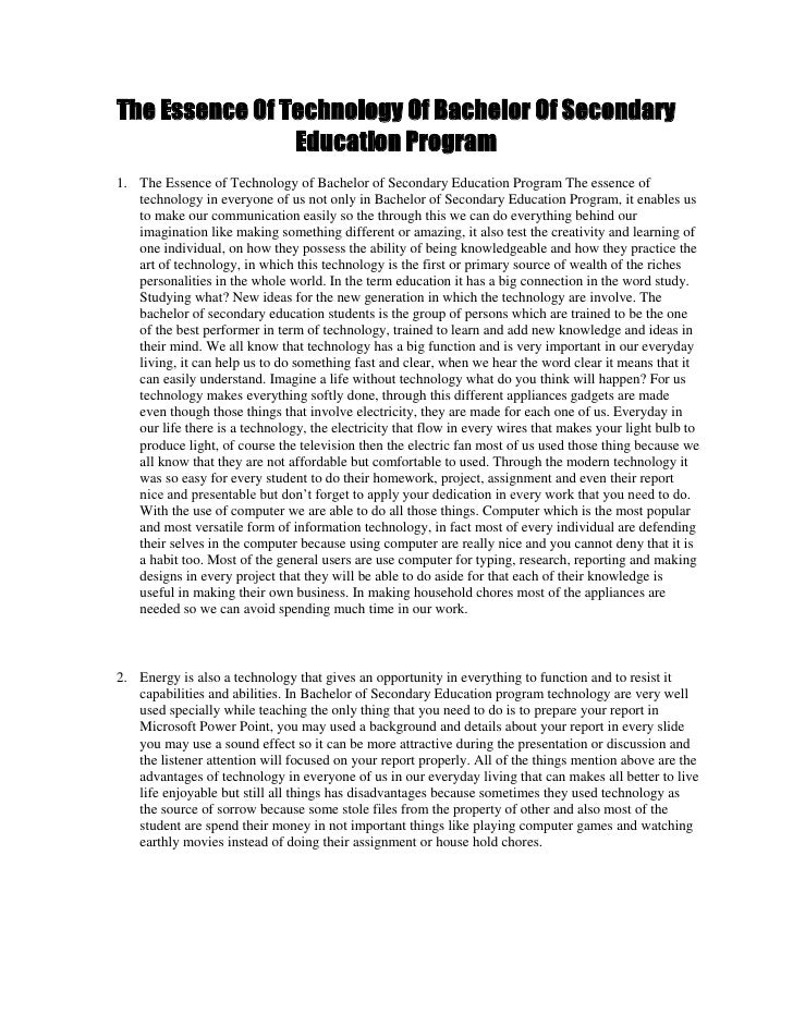 technology improve education essay