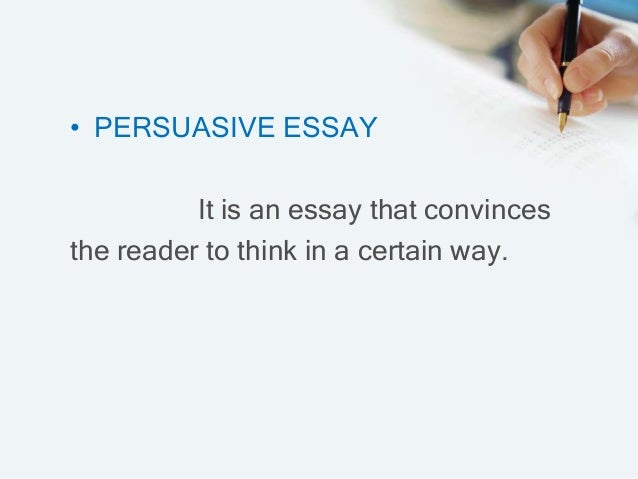 Parts of an persuasive essay?