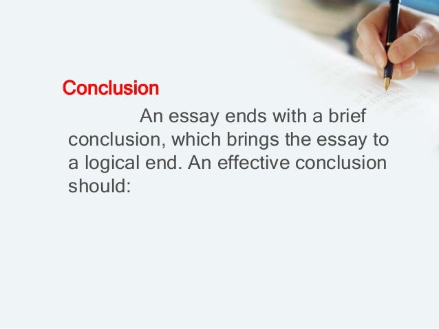 An effective conclusion for this essay topic?