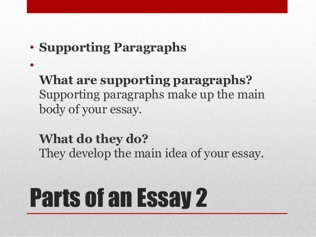 what are the three parts of a five paragraph essay A classic format for compositions is the five-paragraph essay it is not the only format for writing an essay, of course, but it is a useful model for you to keep in mind, especially as you begin to develop your composition skills.