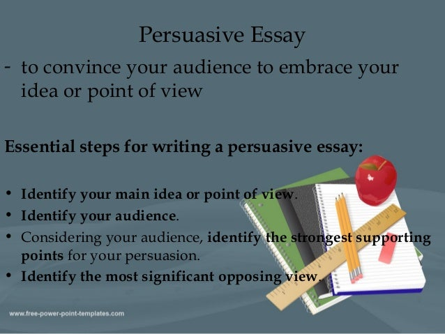 identifying a pursuasive essay How to identify persuasive and manipulative language in an forms of manipulative language heightens critical reading skills from a persuasive essay.