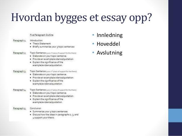 Hvordan skrive en essay
