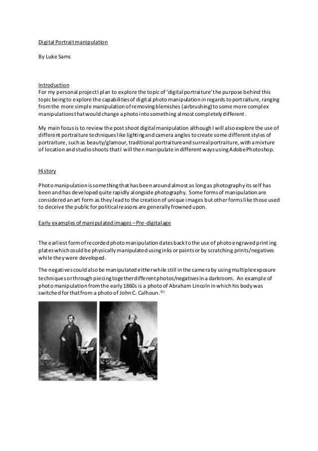 What can i do for my photography dissertation?