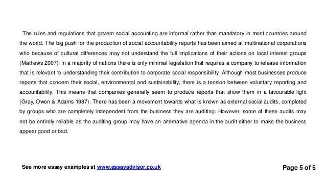 Responsability essay?