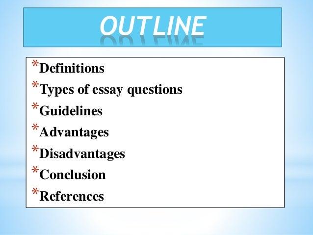 define types of essays