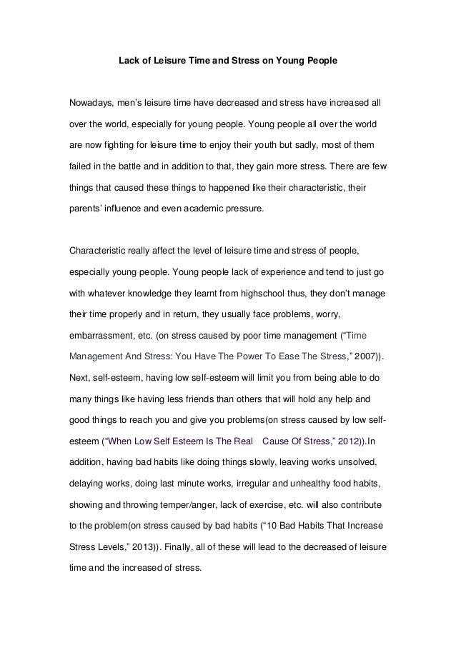 persuasive essay on stress