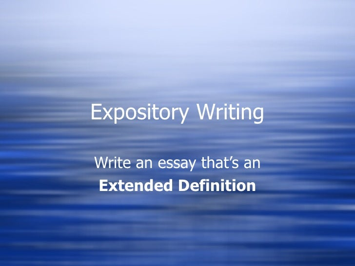 Extended definition essay on pain