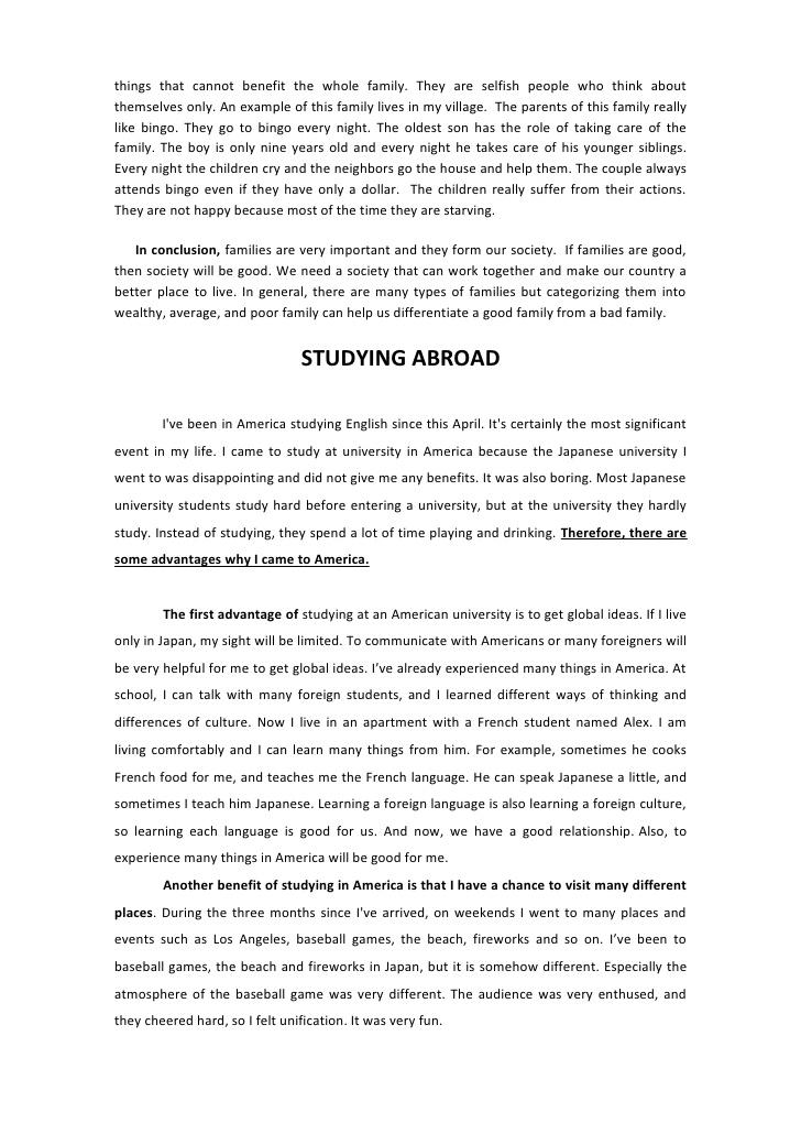 perfect family essay