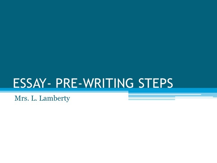 six steps in writing an essay