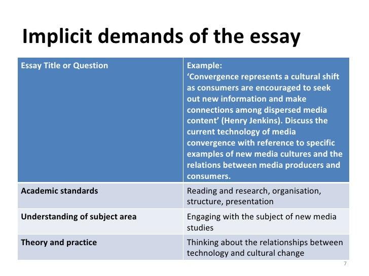 media studies essay titles Media Essay Examples