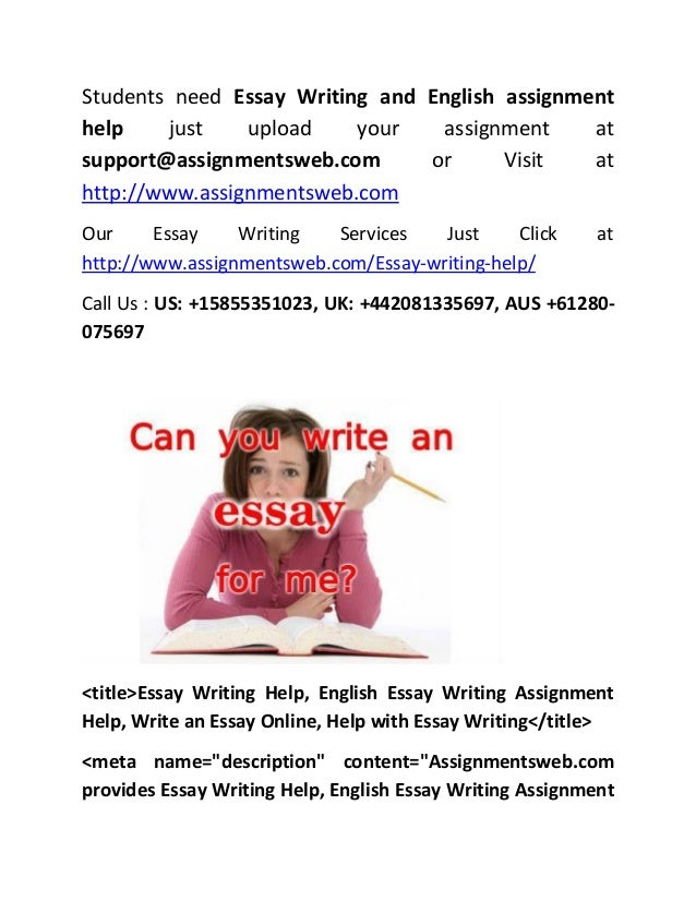 Essay Help Writing Assignment