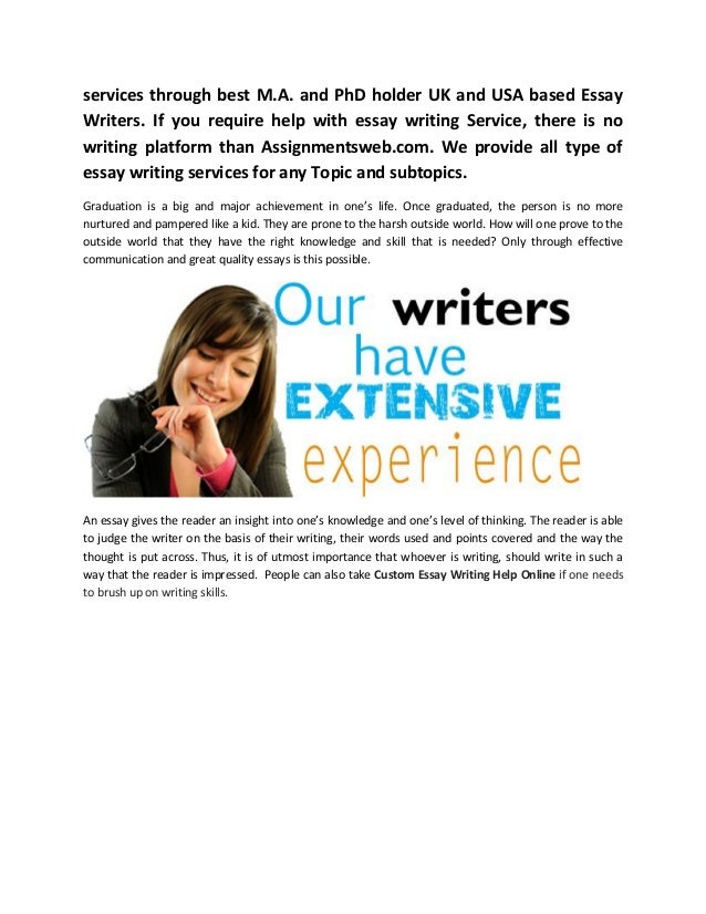 Best essay writing service on the web