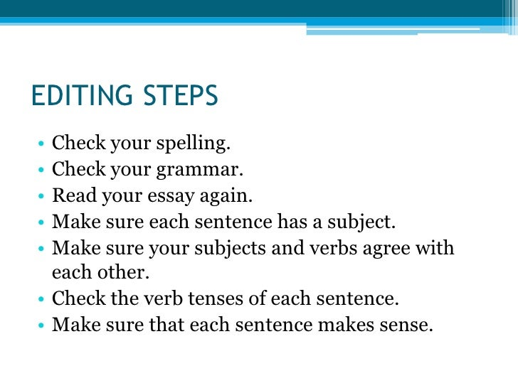 Essay Writing Steps