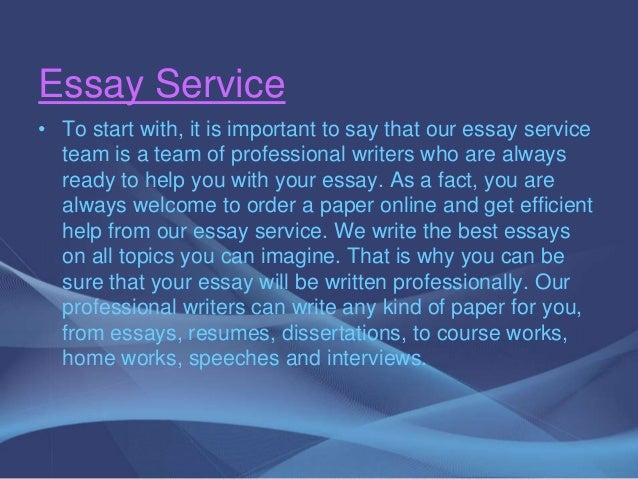 Quality custom essay writing