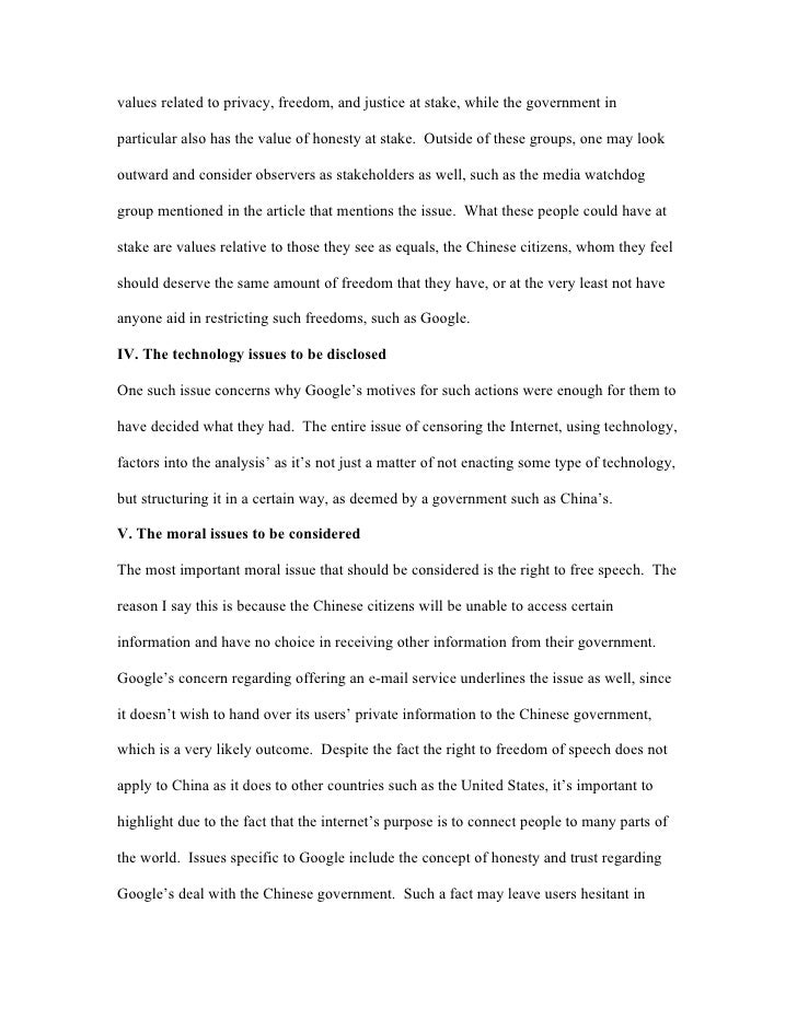 Essay on censorship