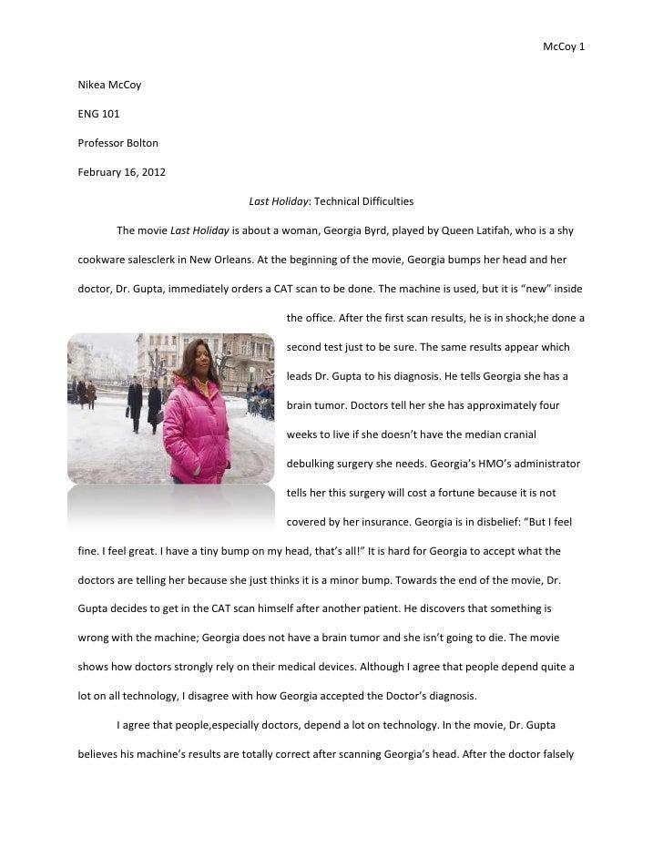 Memorable experience essay