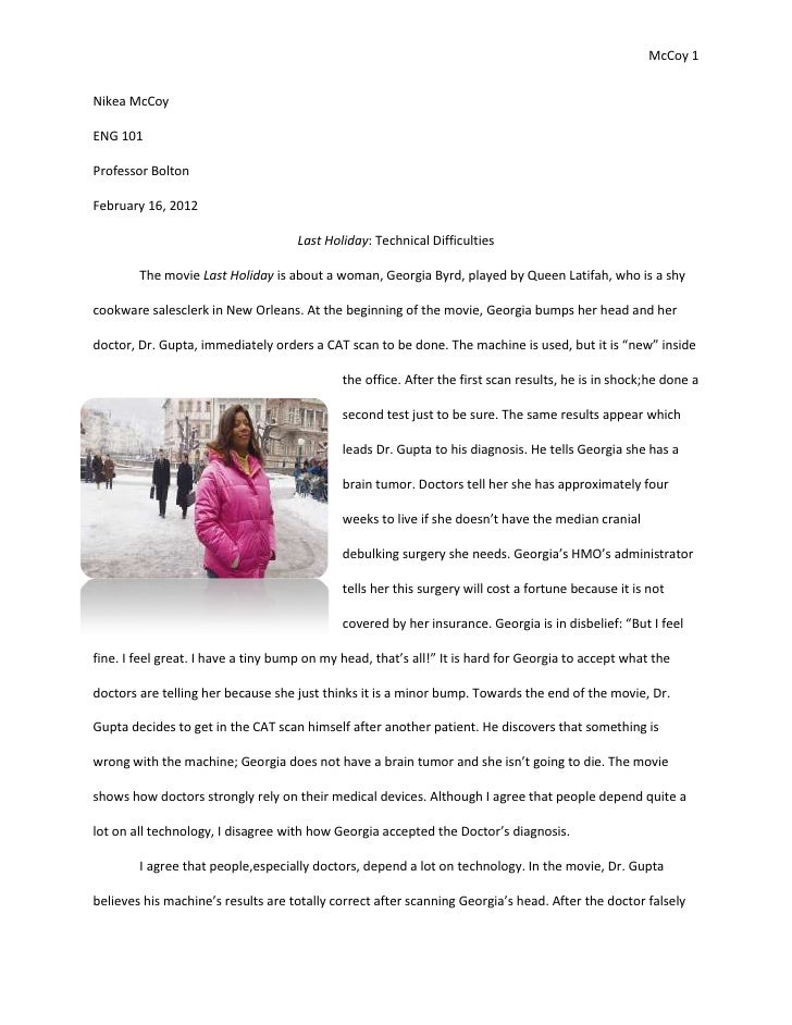 A memorable experience essay