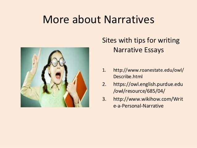 i need help writing a narrative essay