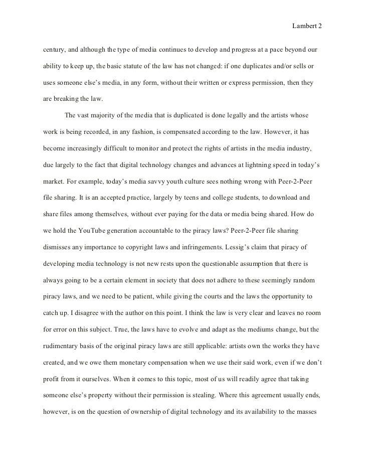 ross essay analysis 2012