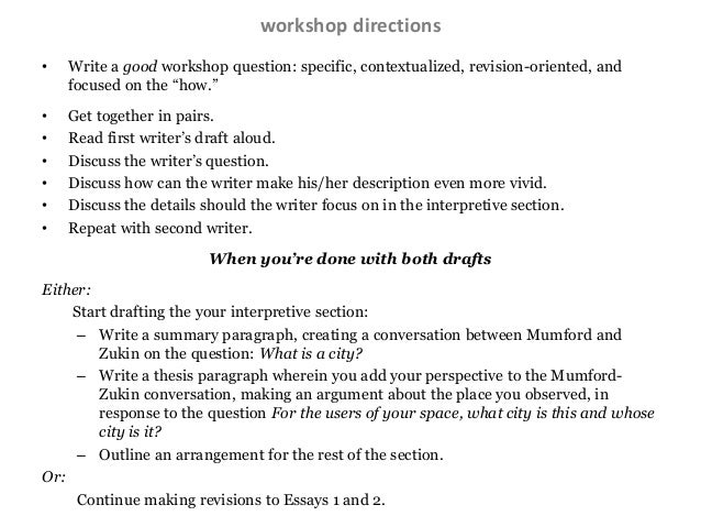 writing directions for essay questions