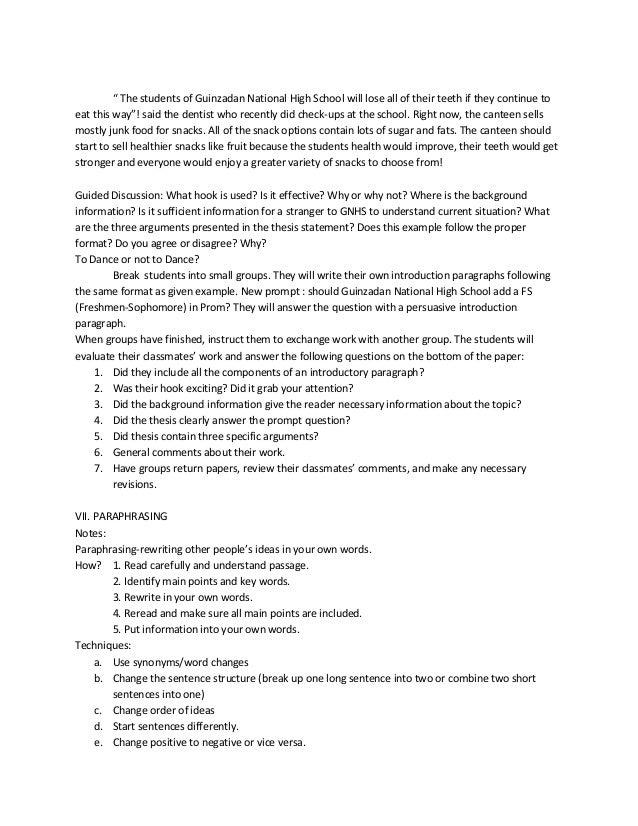 Essay For Activities
