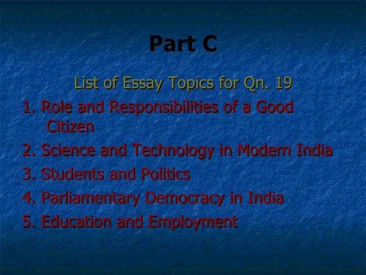 Good citizen essay