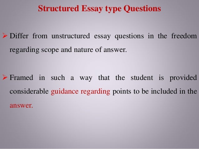 the purpose of an essay is to answer what question