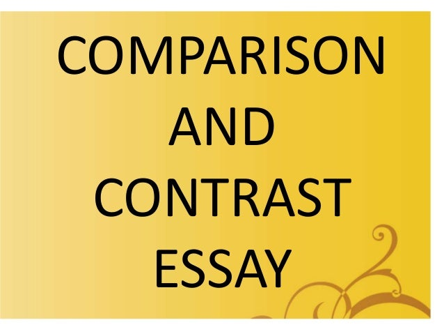 when writing a compare contrast essay the rationale behind Question description topic: compare and contrast society during the early renaissance in europe to contemporary society please follow instructions as follow attached are 2 documents, 1 is a the first draft submitted (7 pages) and the other is the corrections professor made on that draft.