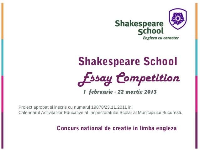 Prezentare Essay Competition 2013