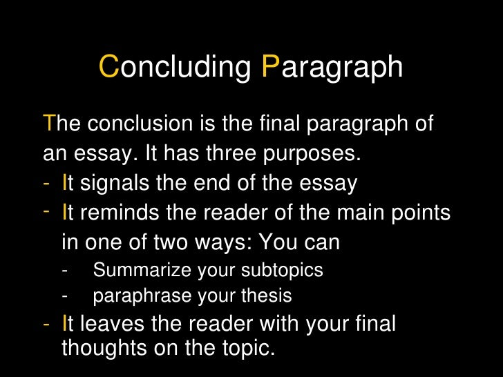 A and p essay conclusion