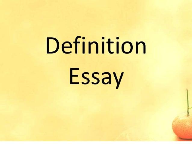 Definition Essay Help