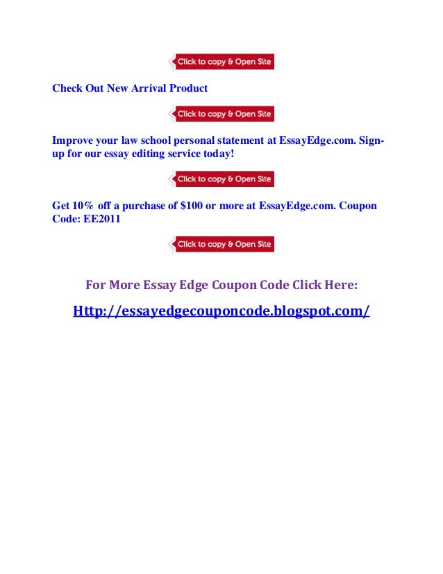 Essay edge coupon