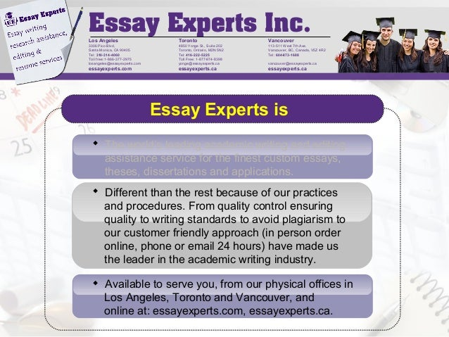 Essay experts los angeles