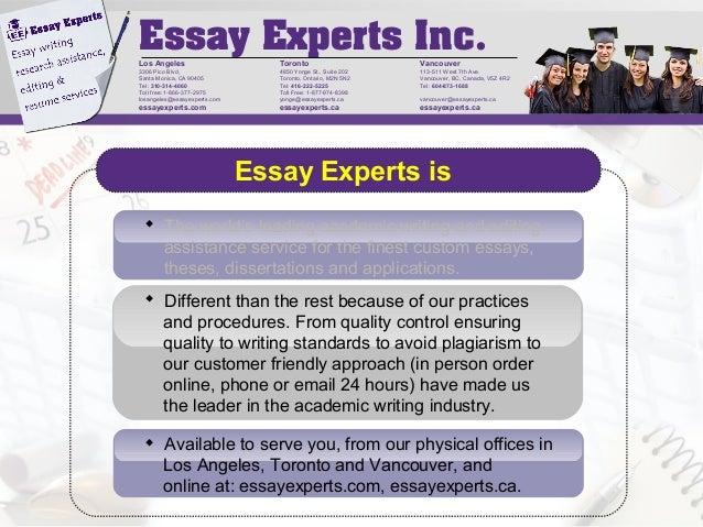 Essay experts los angeles
