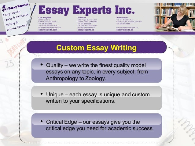 Expert Essays Writers | Custom Essay Writing & Editing Services